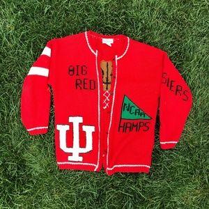 Vintage 80s Indiana Hoosiers IU Basketball Sweater